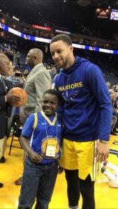 Stephen Curry and TJ